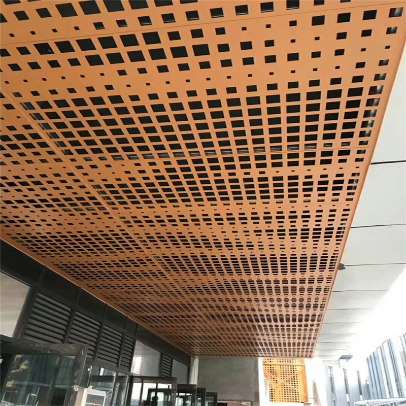 乱孔铝单板吊顶装饰